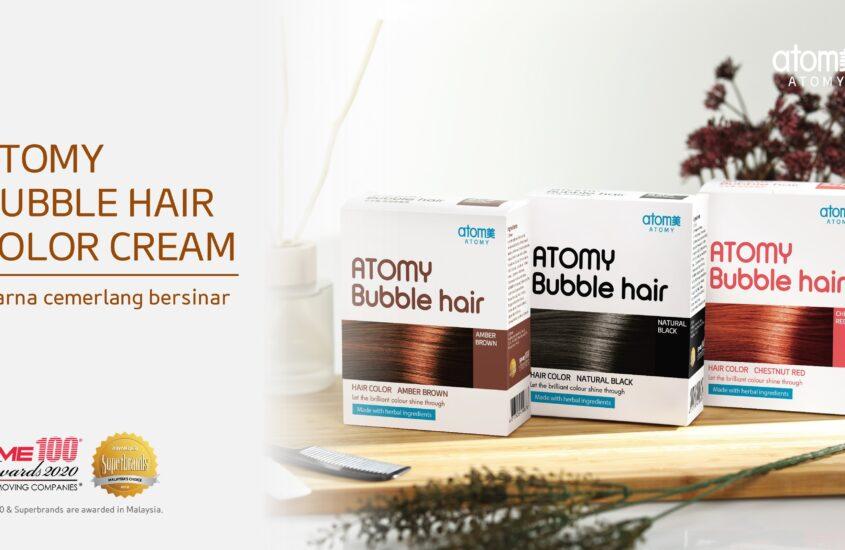 Warnakan Rambut Dalam 10-15 Minit Dengan Atomy Bubble Hair